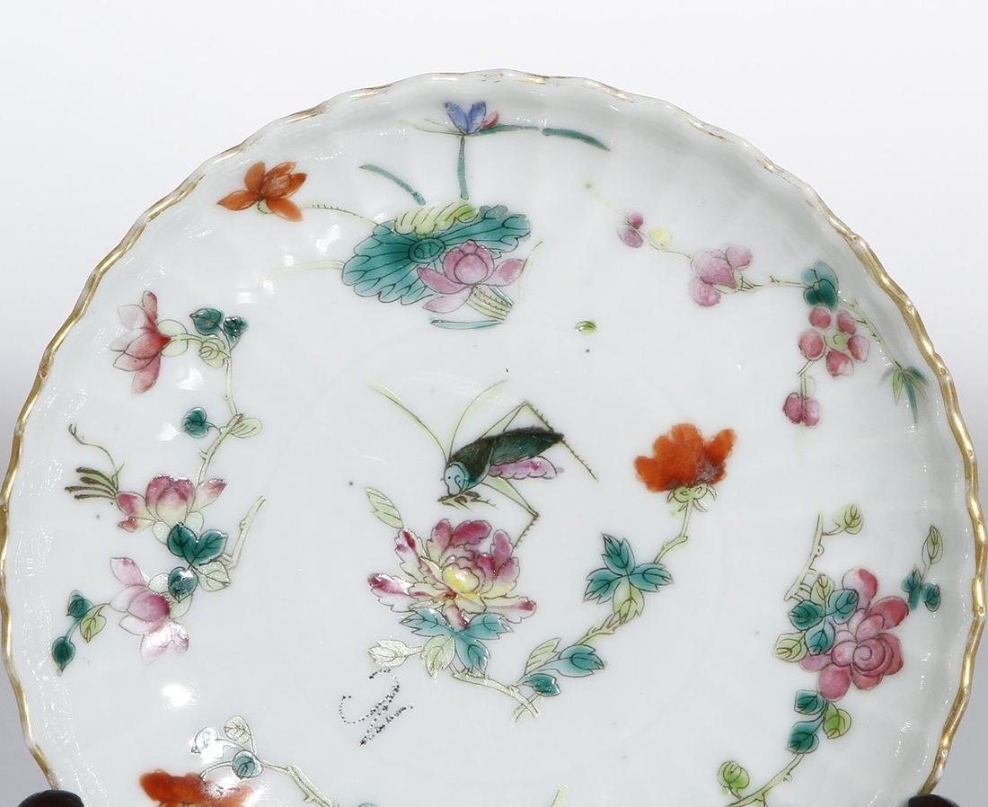 Pair of Chinese Wucai Dishes - 2