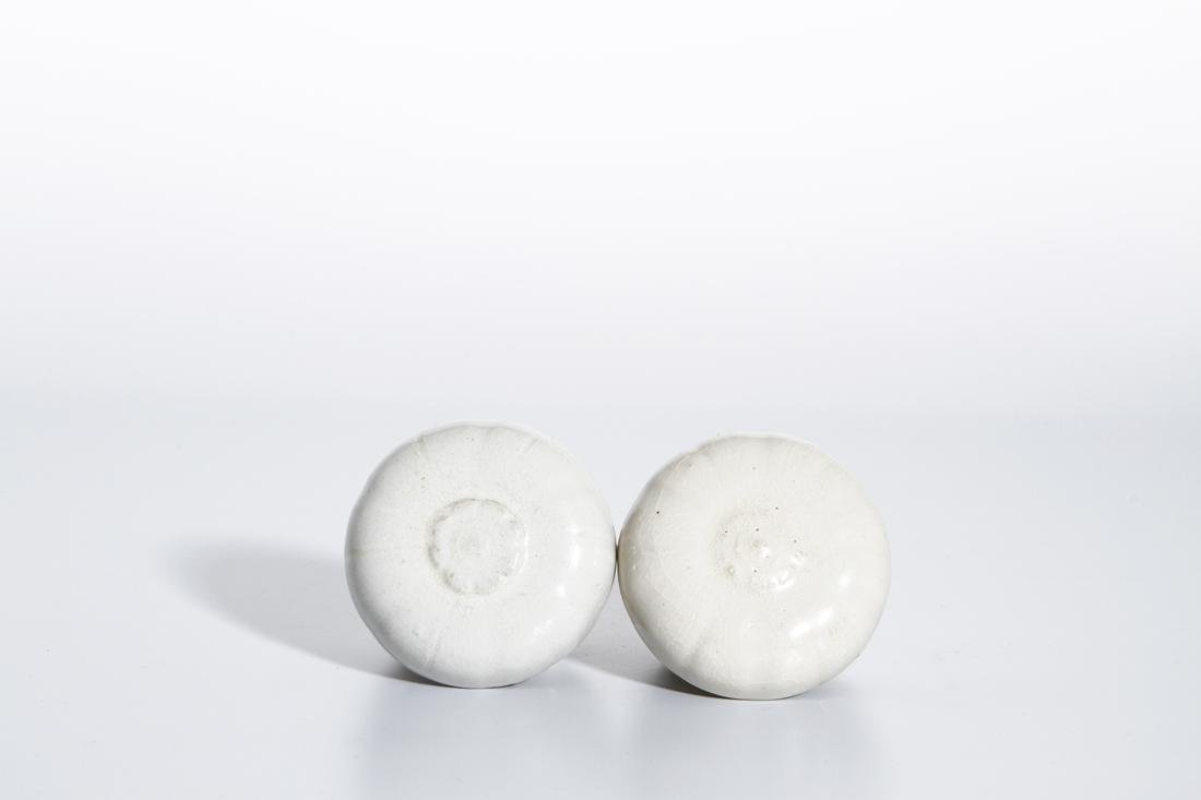 Pair of Chinese Qingbai Melon-Form Boxes - 3