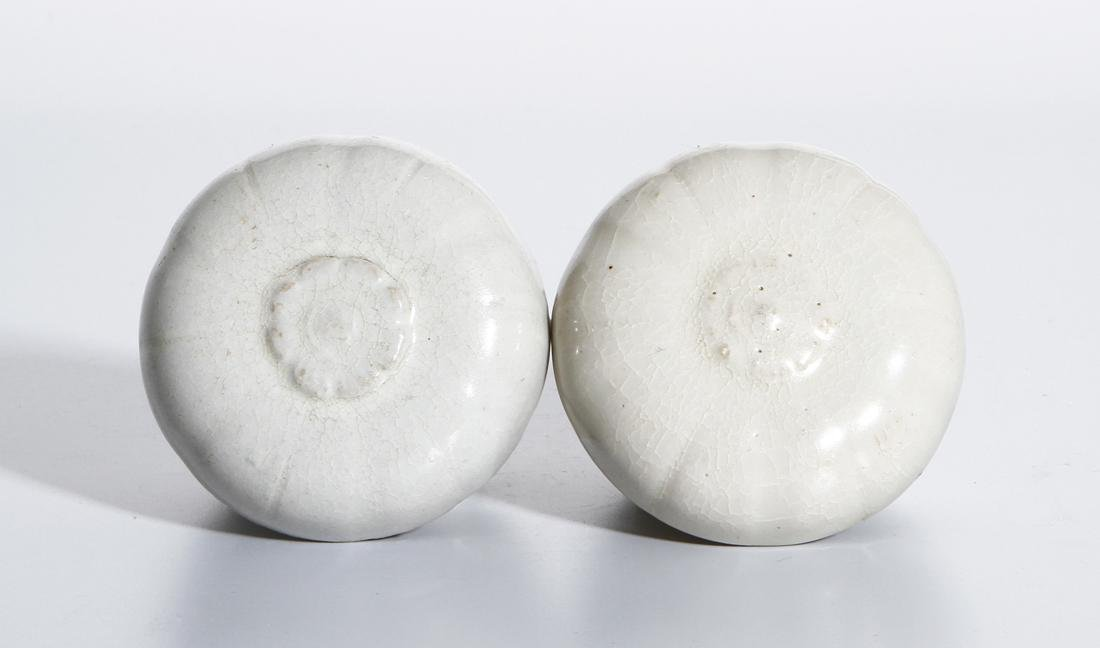 Pair of Chinese Qingbai Melon-Form Boxes - 4