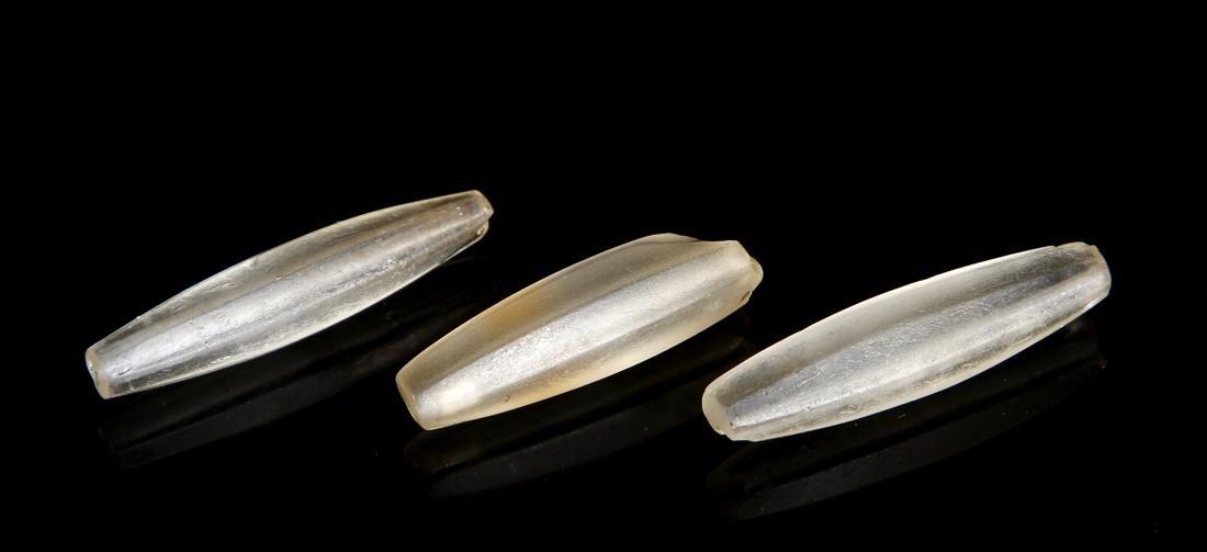 Chinese Three Hand-Drilled Beads