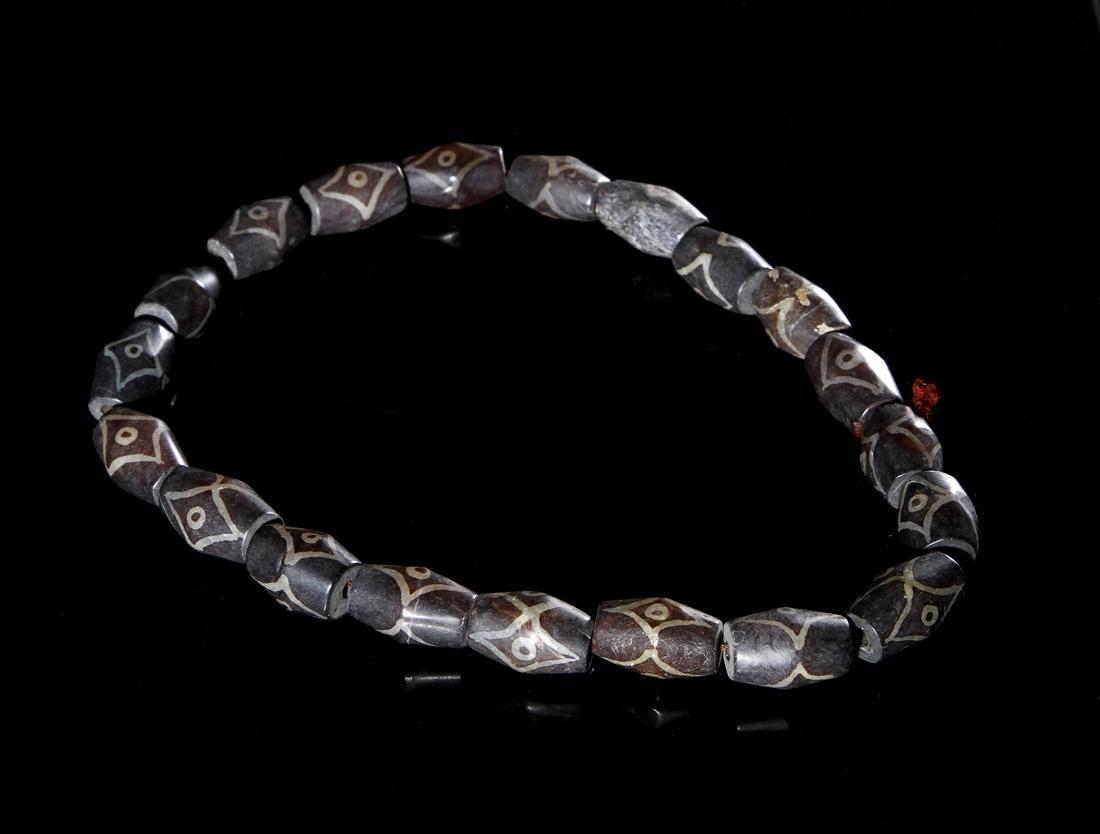Chinese Dzi Beads Necklace