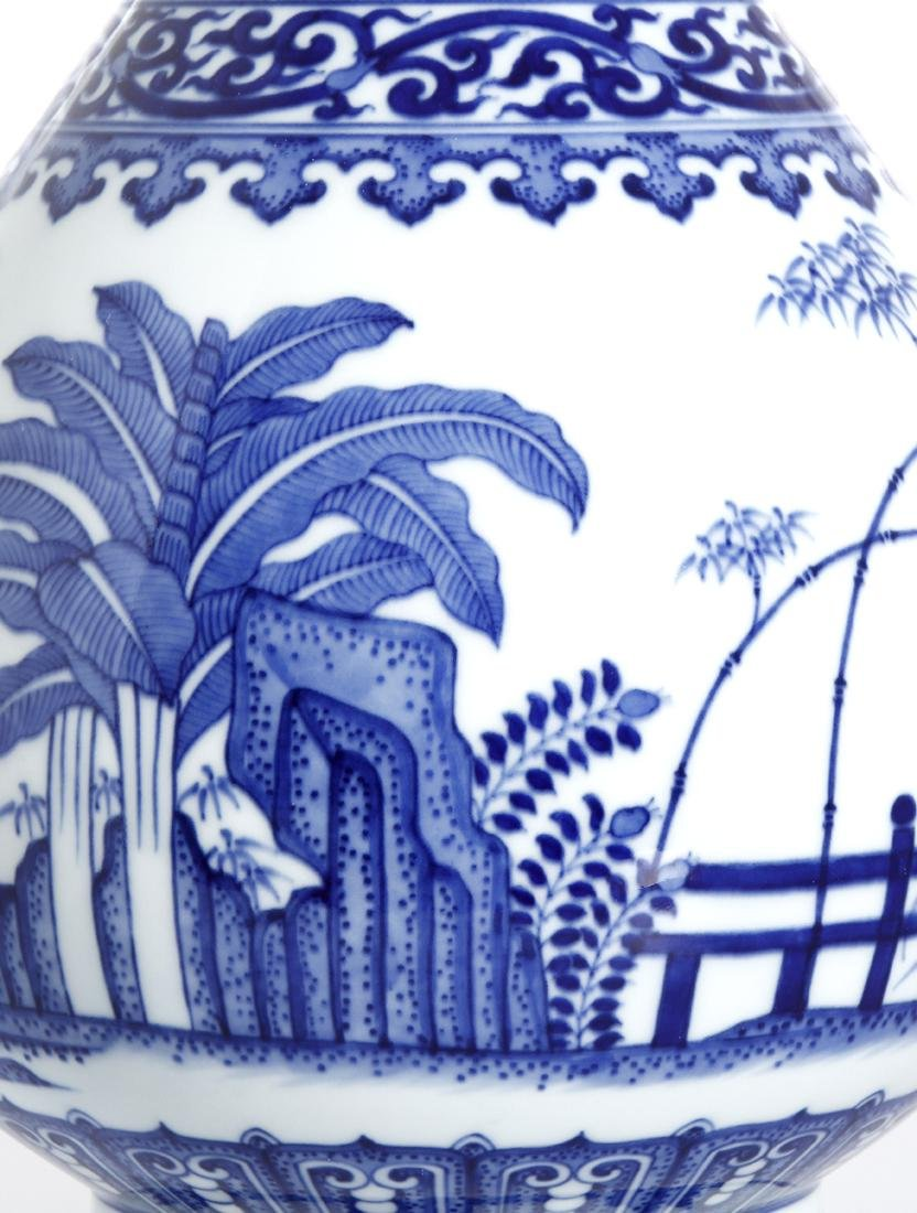 Chinese Blue and White Yuhunchunping Vase - 5