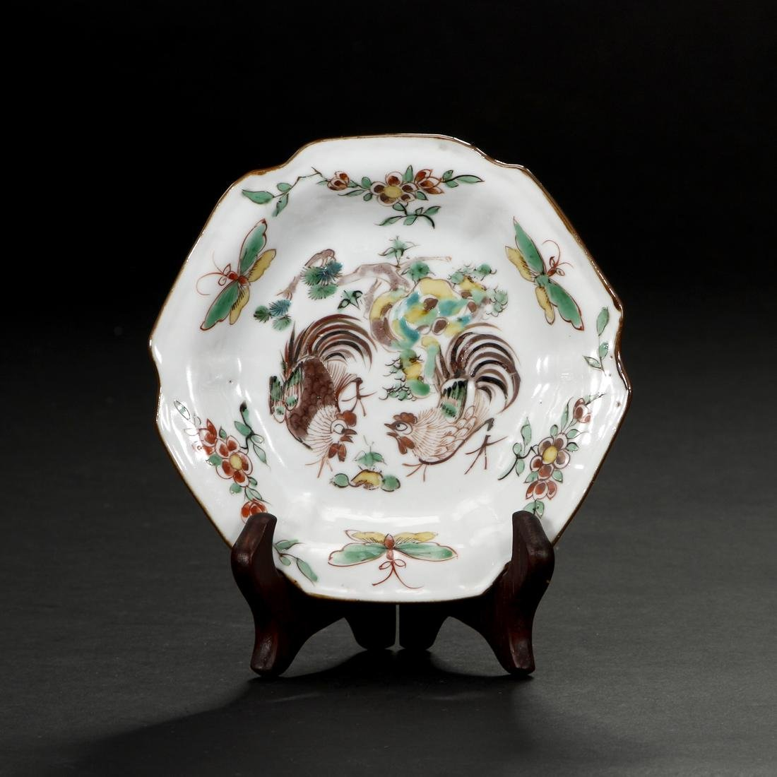 Chinese Important Late Ming Wucai Dish, Christie's