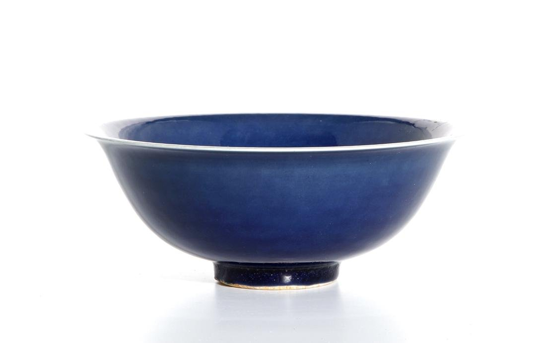 Chinese Blue Glazed Bowl