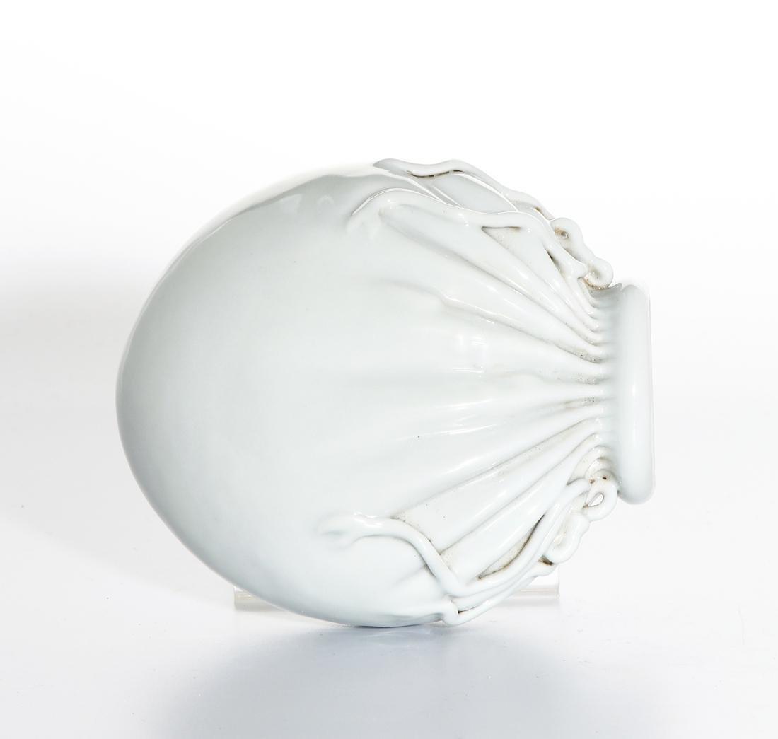 Chinese White Glazed Wall Vase