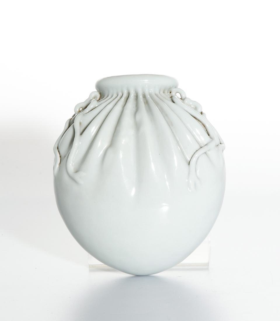 Chinese White Glazed Wall Vase - 2