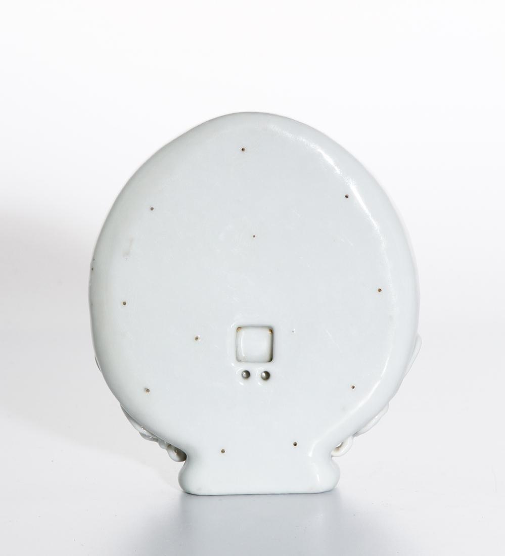 Chinese White Glazed Wall Vase - 4