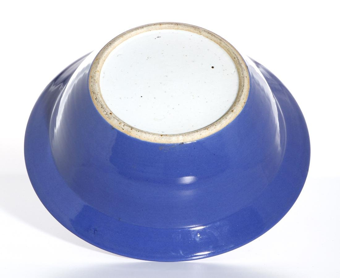 Chinese Blue Glazed Basin - 5