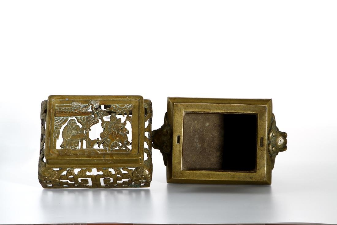 Chinese Gilt Bronze Censer and Cover - 5