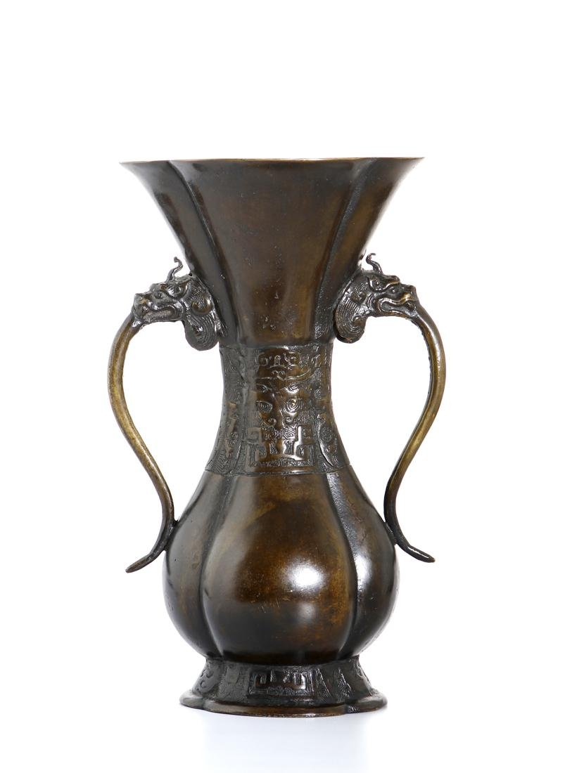 Chinese Bronze 'Taotie' Vase