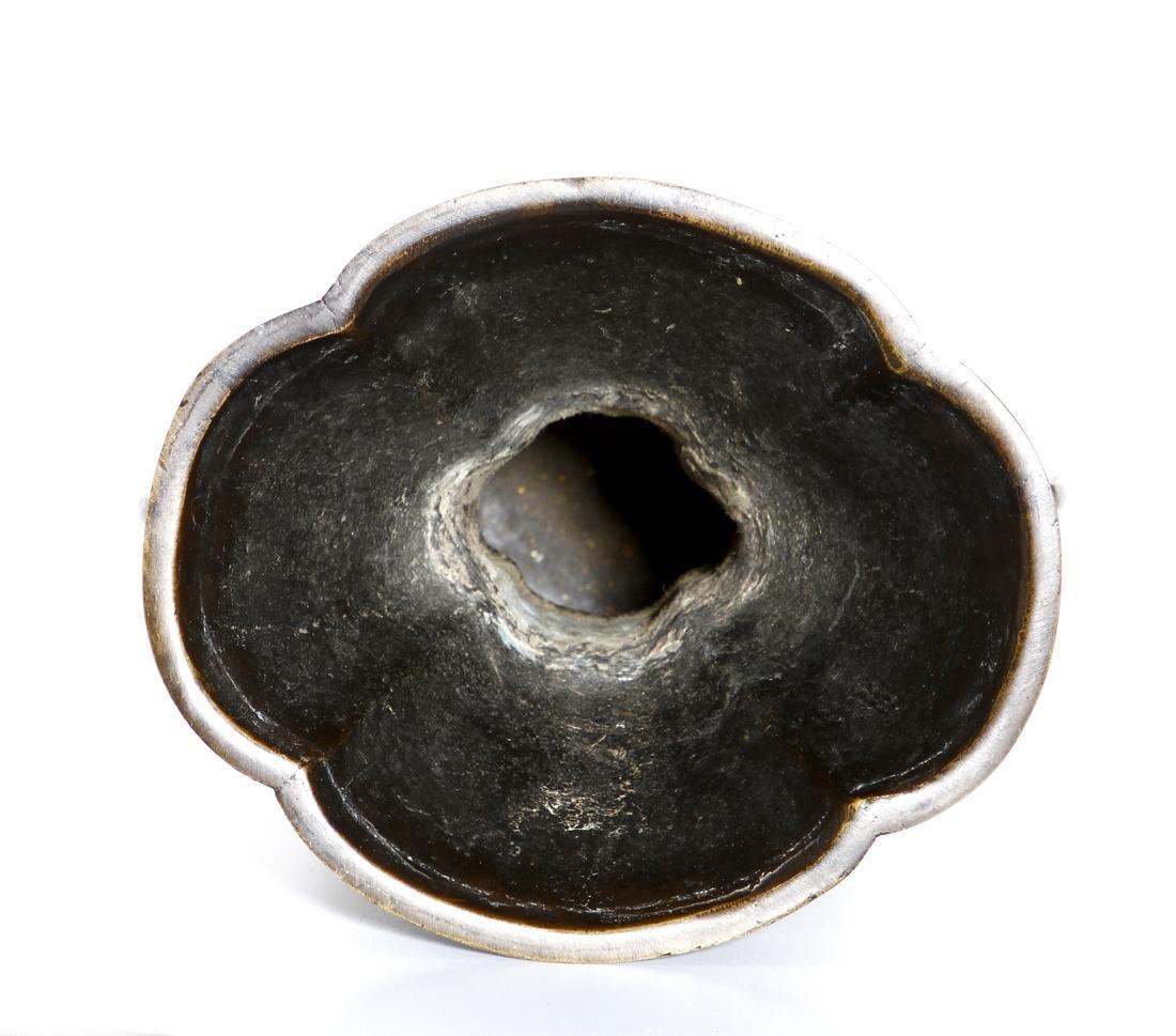 Chinese Bronze 'Taotie' Vase - 8