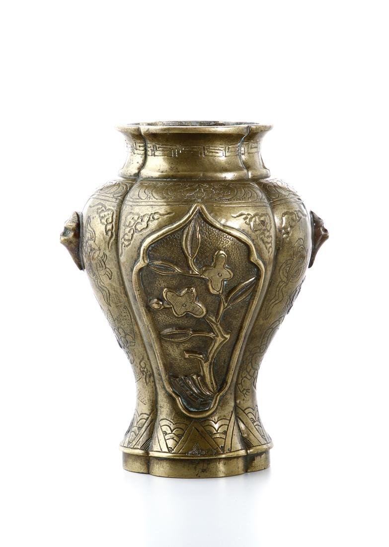 Chinese Bronze Baluster Vase