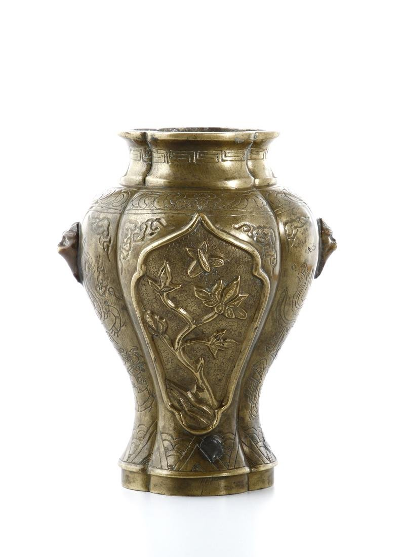 Chinese Bronze Baluster Vase - 5