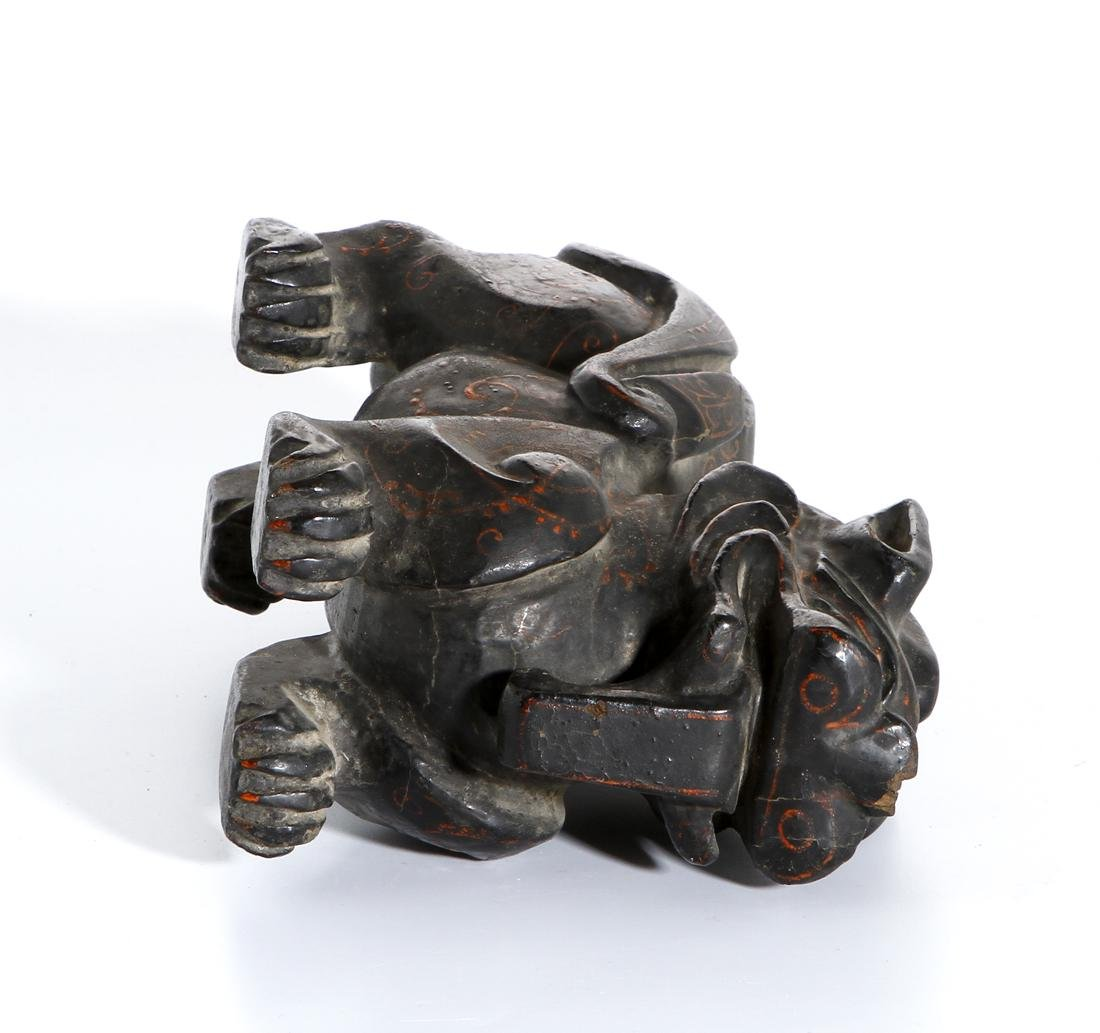 Chinese Wood Carving of a Mythical Beast - 6