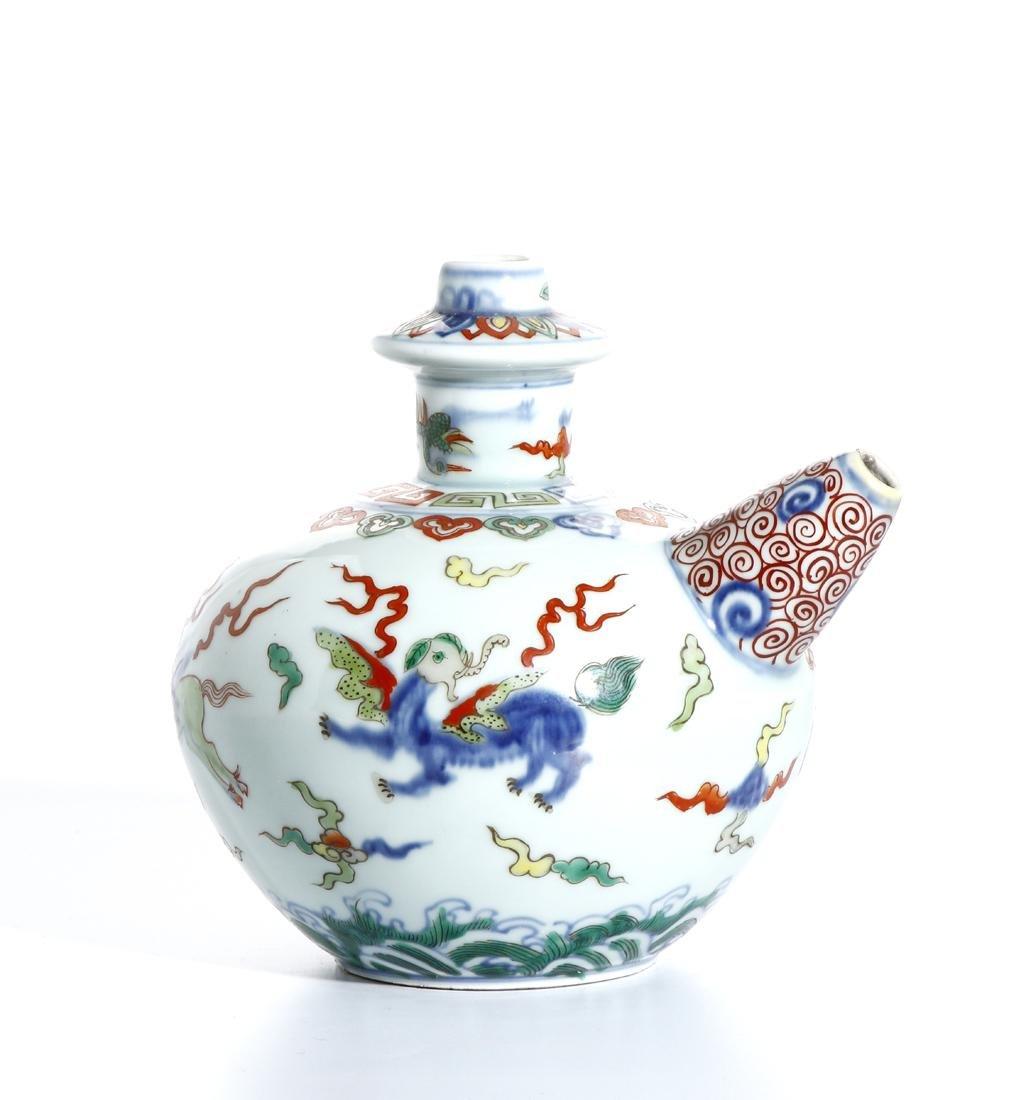 Chinese Doucai Kendi - 3