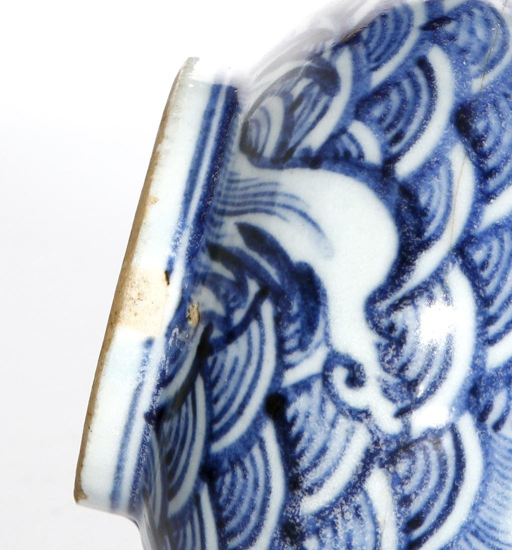 Pair of Chinese Blue and White Vases - 7