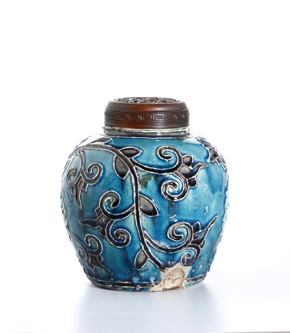 Chinese Fahua Jar and Cover - 2