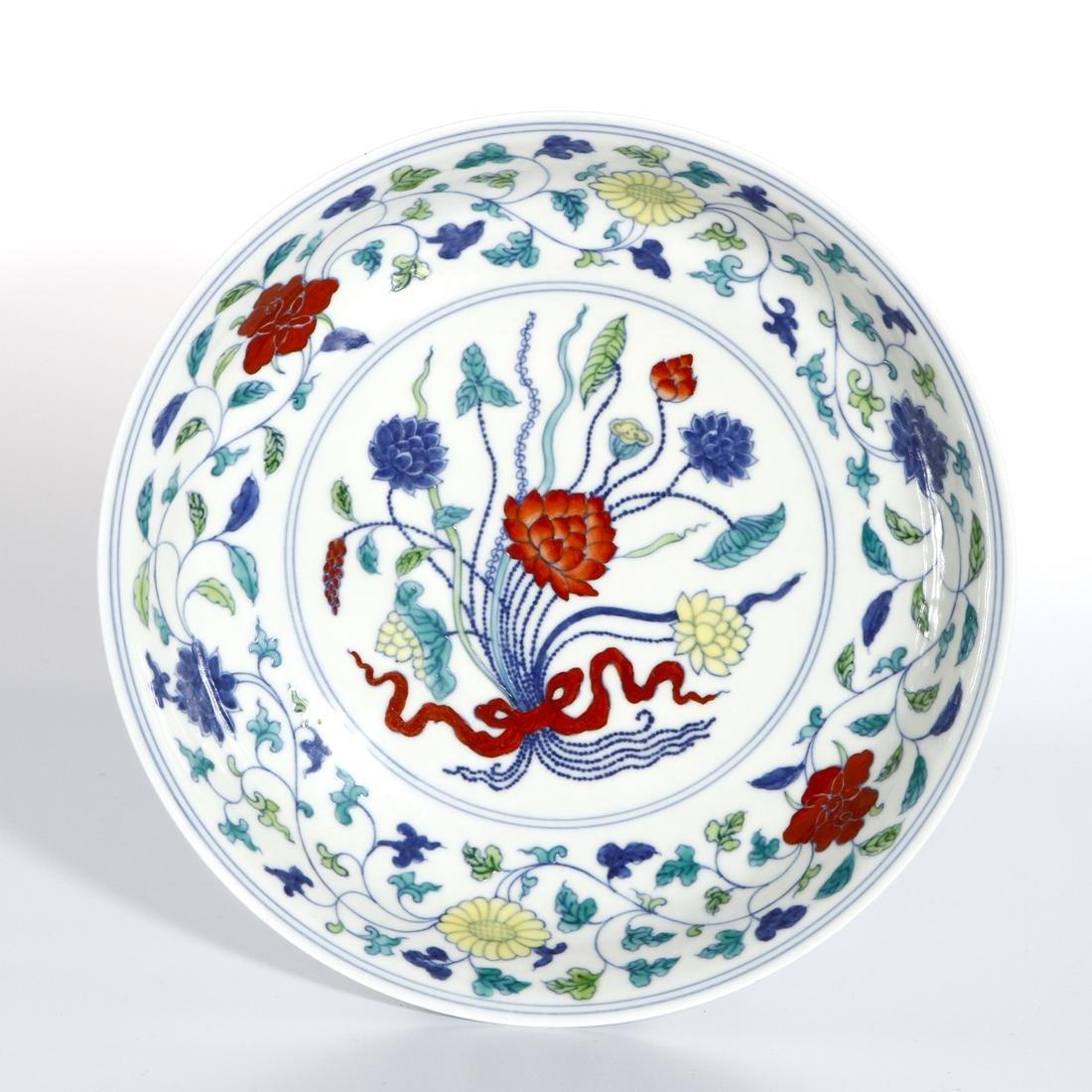 Chinese Doucai 'Lotus' Dish