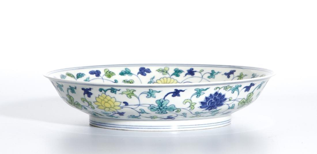 Chinese Doucai 'Lotus' Dish - 6