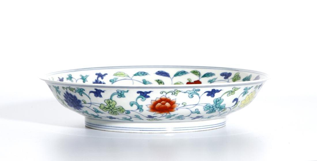 Chinese Doucai 'Lotus' Dish - 7