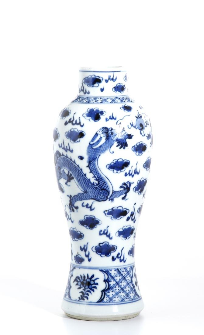 Chinese Blue and White Baluster Vase - 3
