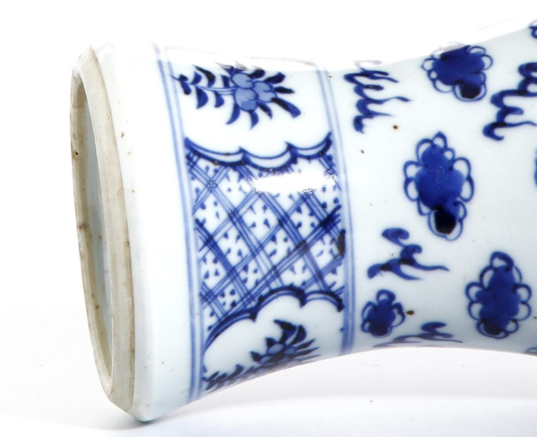 Chinese Blue and White Baluster Vase - 7