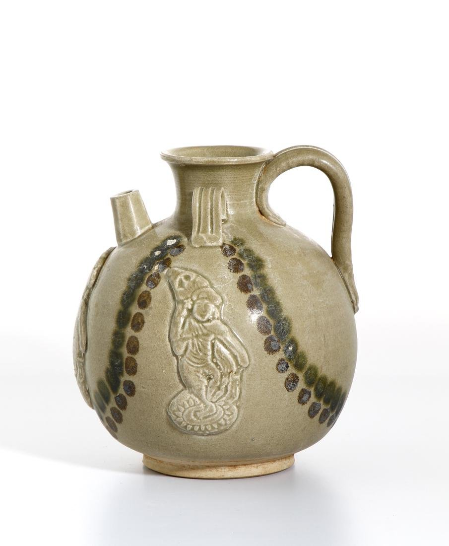 Chinese 'Changsha' Celadon-Glazed Ewer