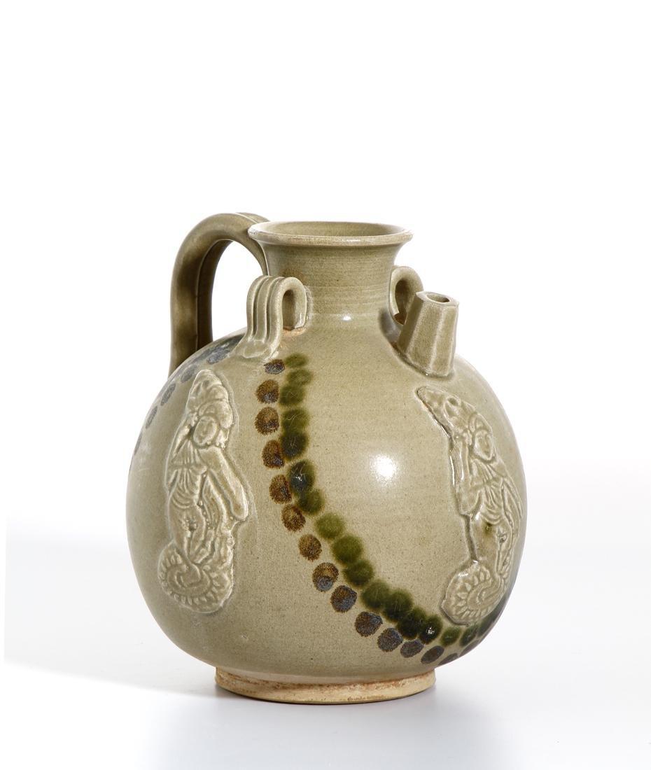 Chinese 'Changsha' Celadon-Glazed Ewer - 3
