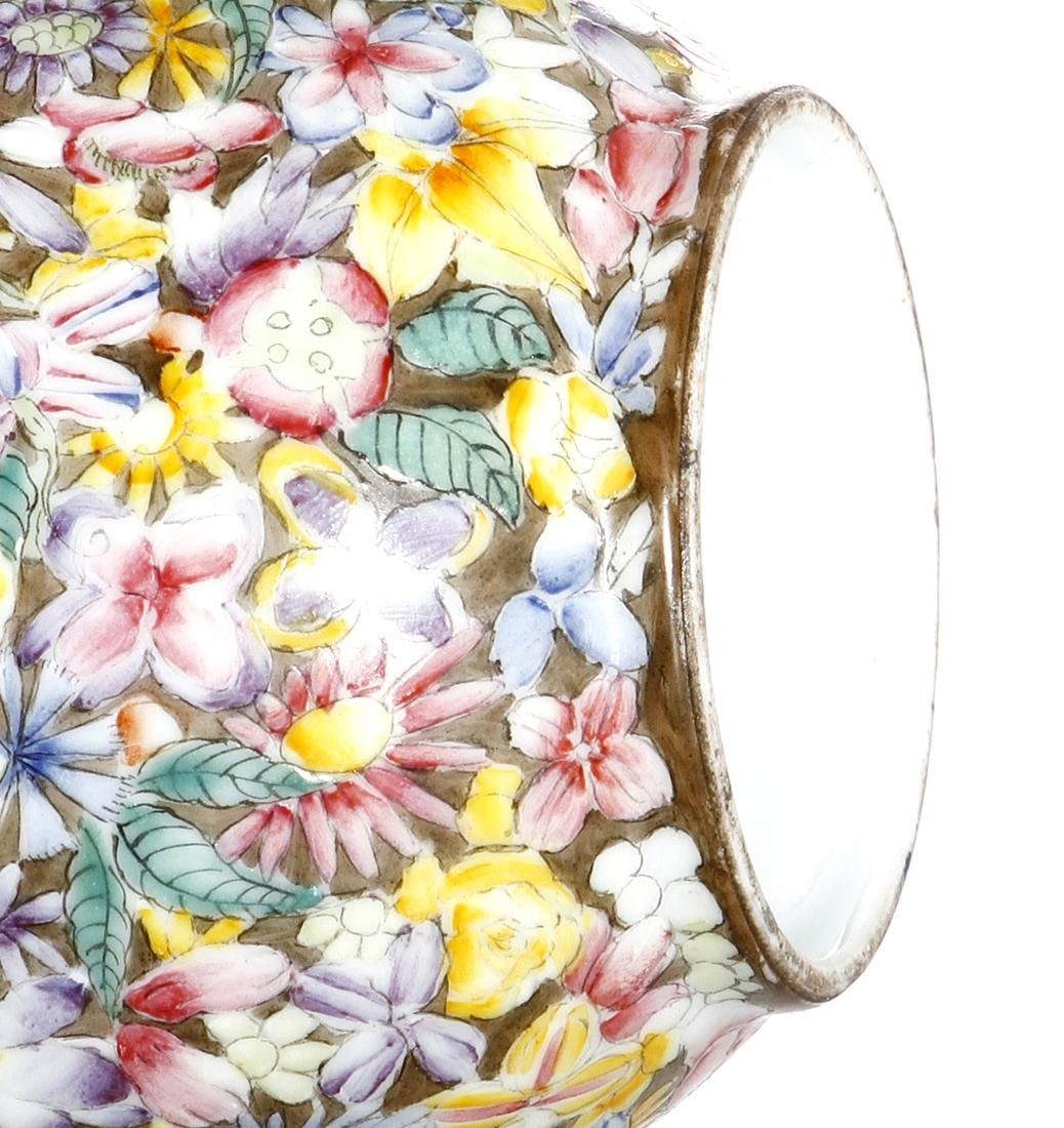 Chinese Famille Rose 'Mille-Fleurs' Vase - 10