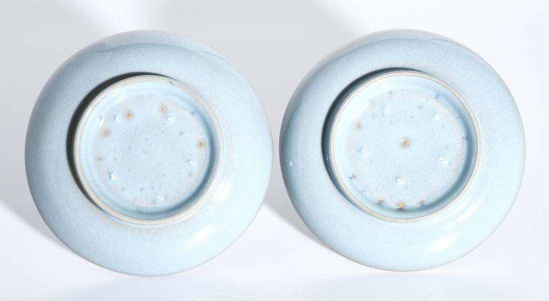 Pair of Chinese Jun Type Dishes - 4