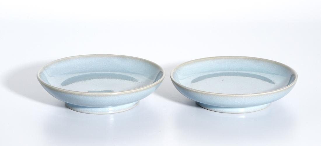 Pair of Chinese Jun Type Dishes - 6