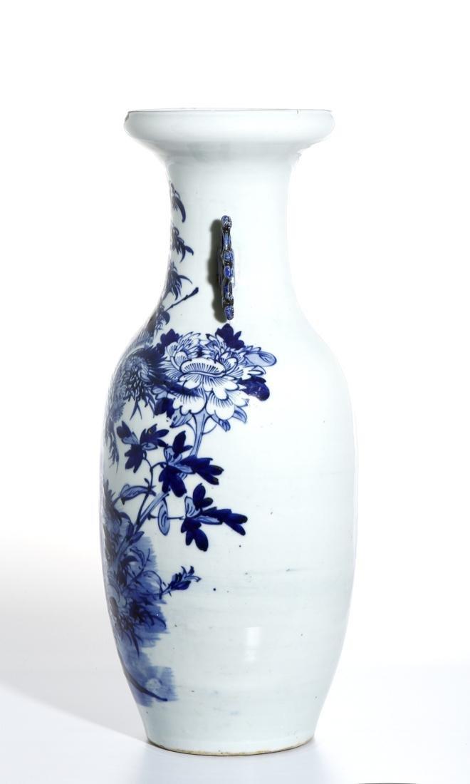 Large Chinese Blue and White Vase - 2