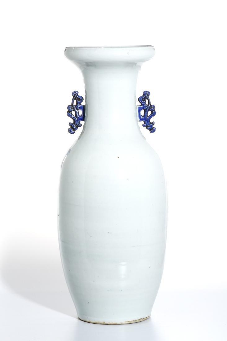 Large Chinese Blue and White Vase - 3