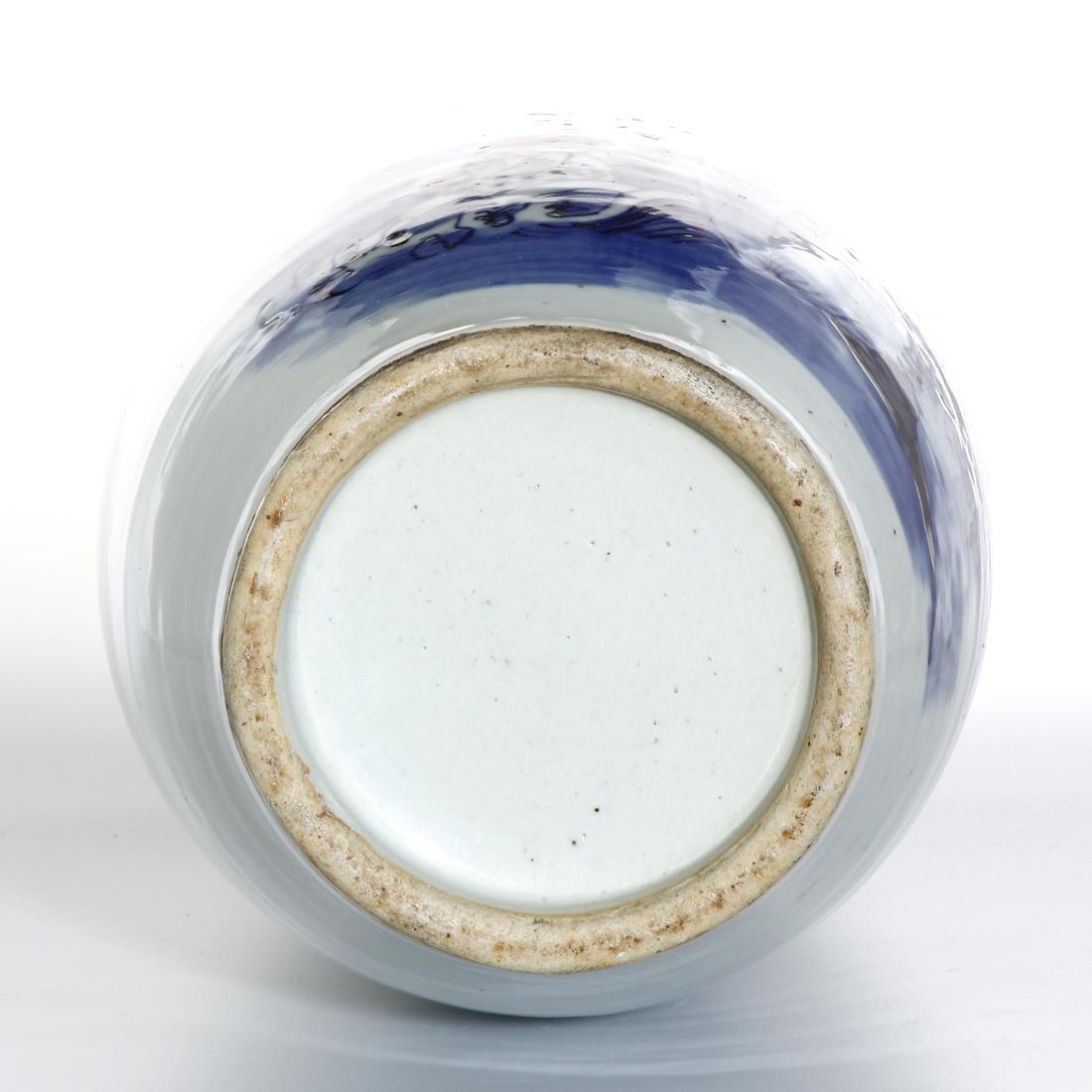 Large Chinese Blue and White Vase - 6