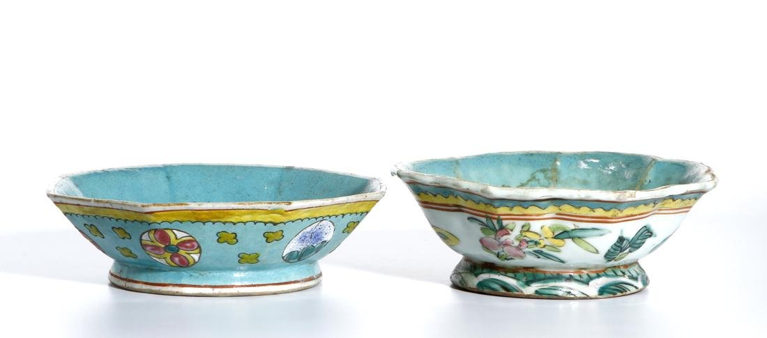 Two Chinese Famille Rose Bowls
