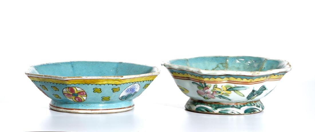 Two Chinese Famille Rose Bowls - 5