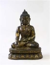 Chinese Gilt-Bronze Figure of Buddha