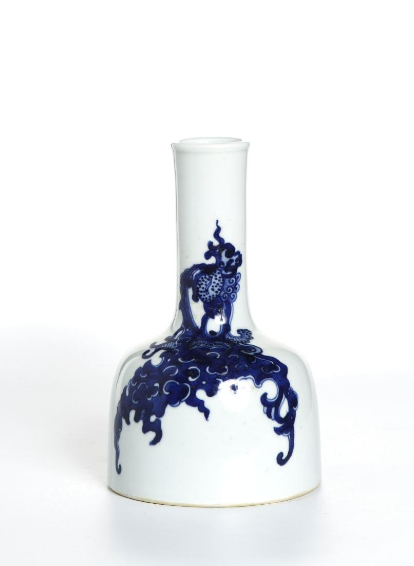 Chinese Blue and White Mallet Vase