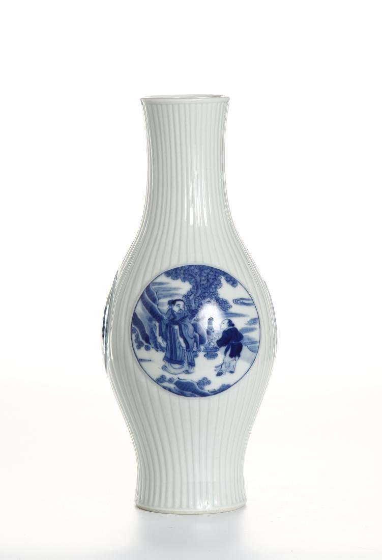 Chinese Blue and White Baluster Vase - 2