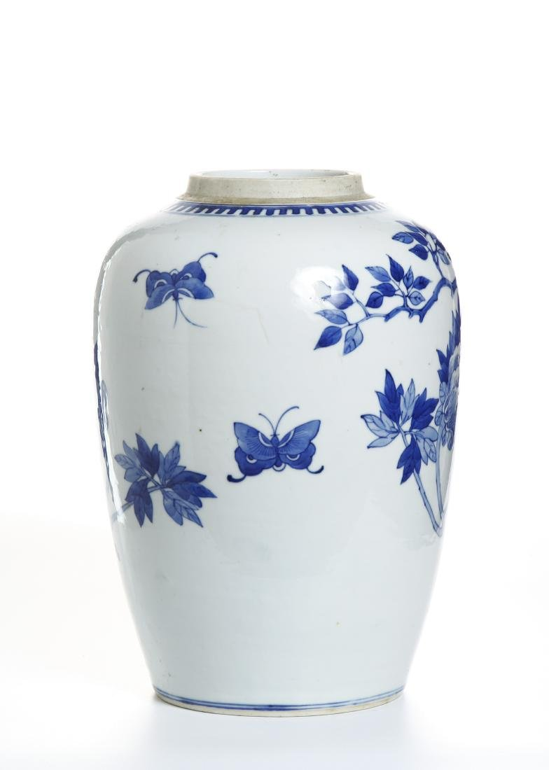 Chinese Blue and White Ovoid Vase - 3