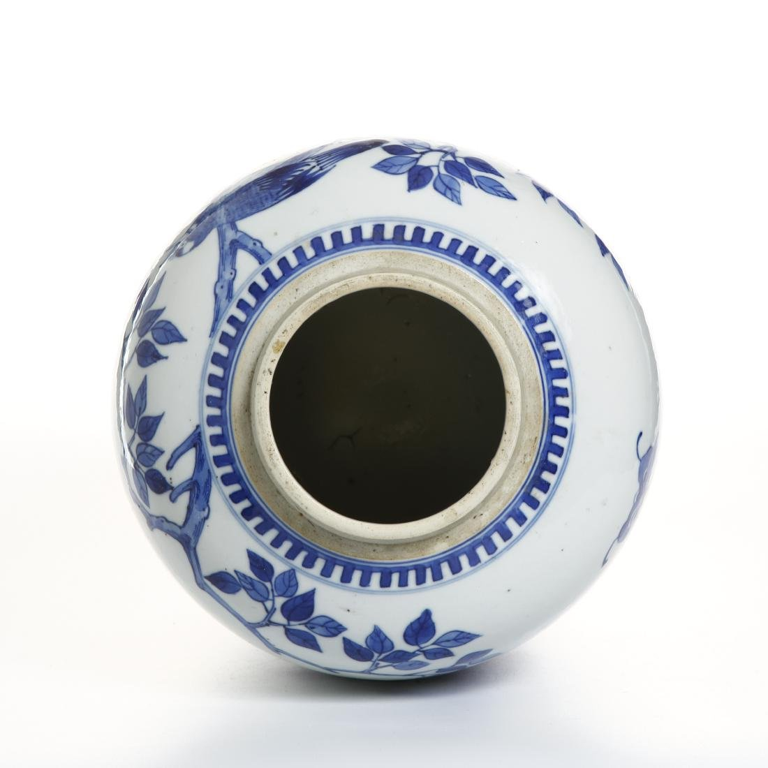 Chinese Blue and White Ovoid Vase - 4