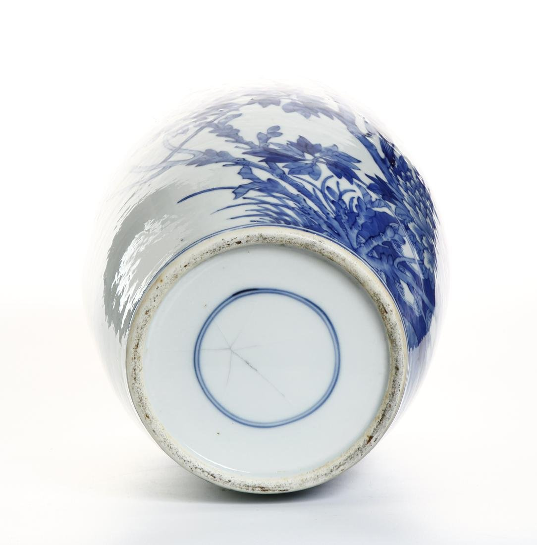 Chinese Blue and White Ovoid Vase - 5