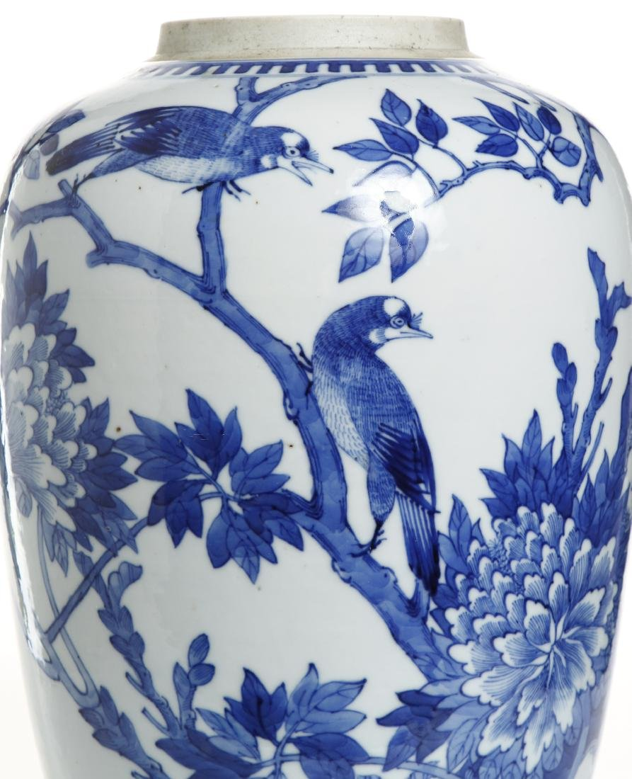 Chinese Blue and White Ovoid Vase - 7