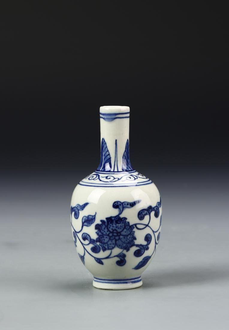 Chinese Blue and White Bottle Vase