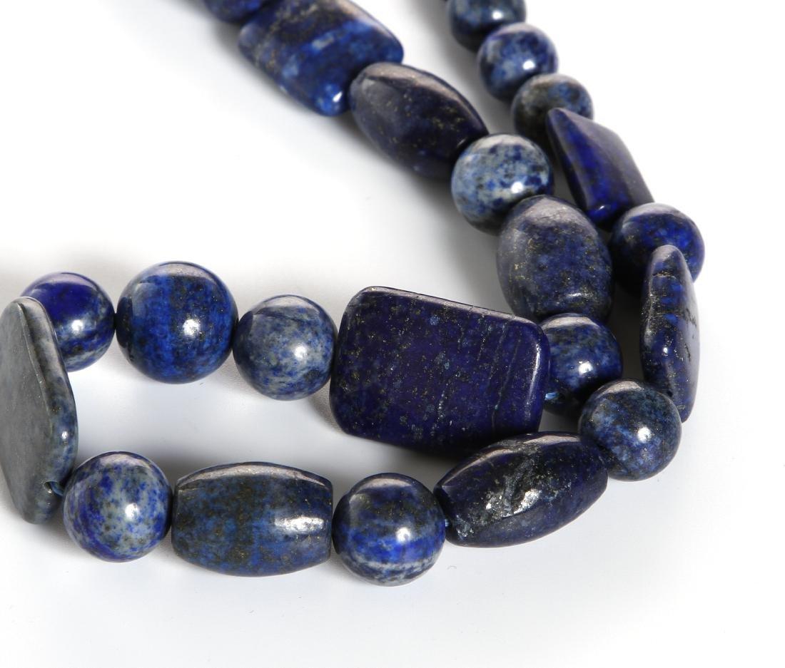 Lapis Lazuli Beaded Necklace - 2