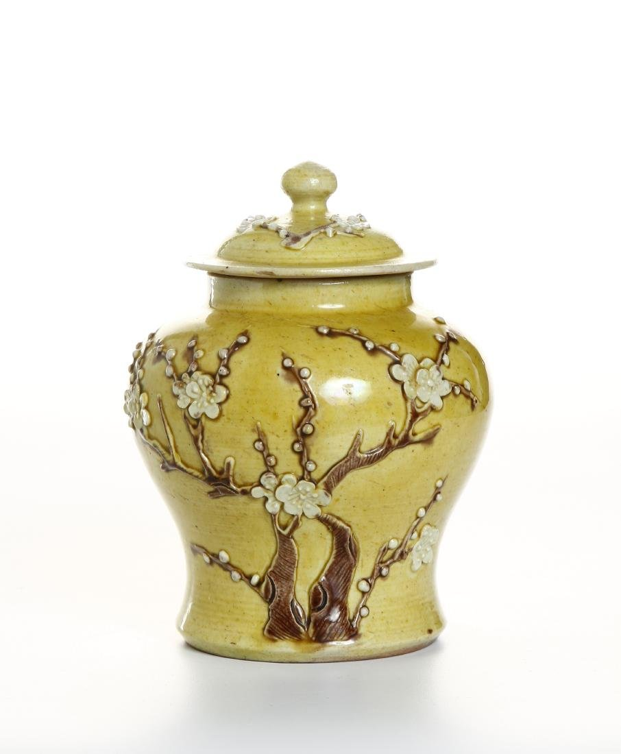 Yellow-Glazed Ginger Jar and Cover