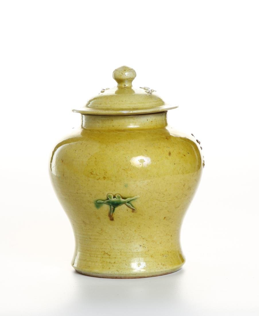 Yellow-Glazed Ginger Jar and Cover - 2
