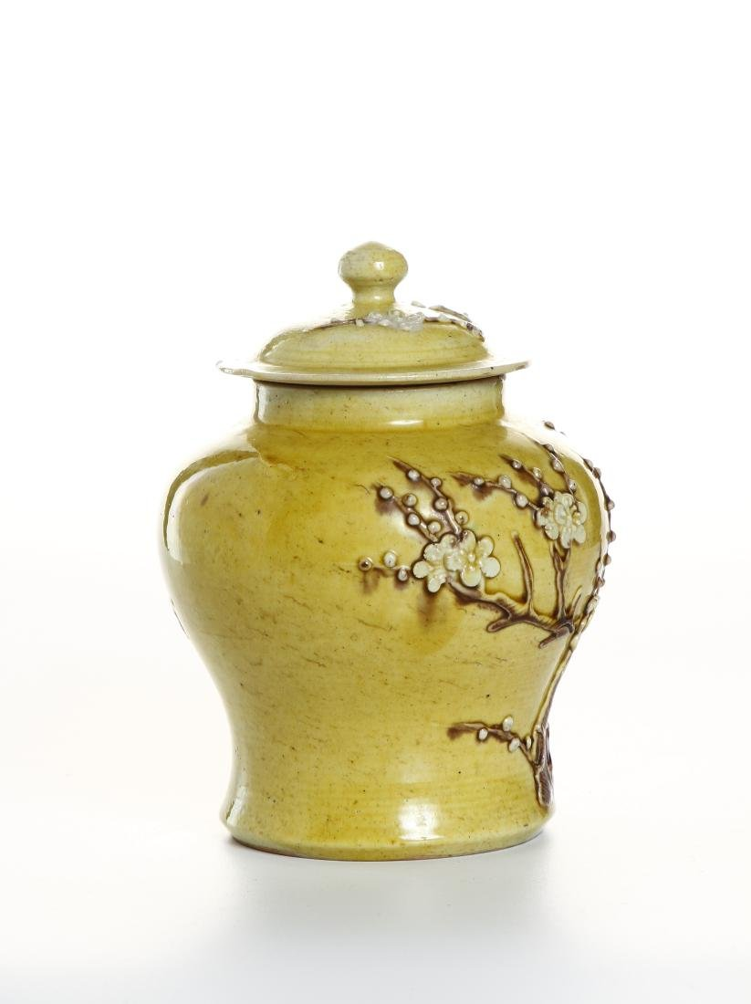 Yellow-Glazed Ginger Jar and Cover - 3