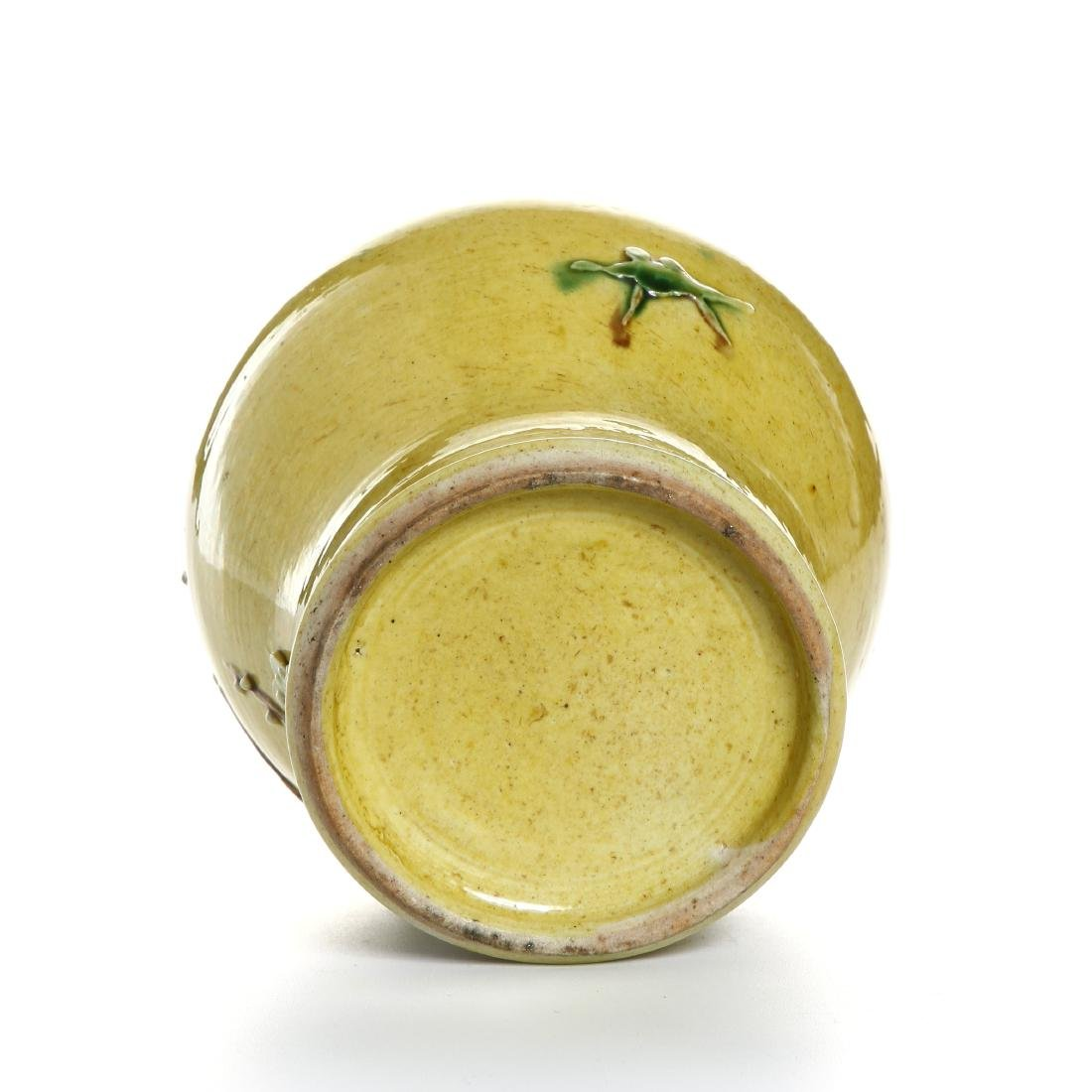Yellow-Glazed Ginger Jar and Cover - 6