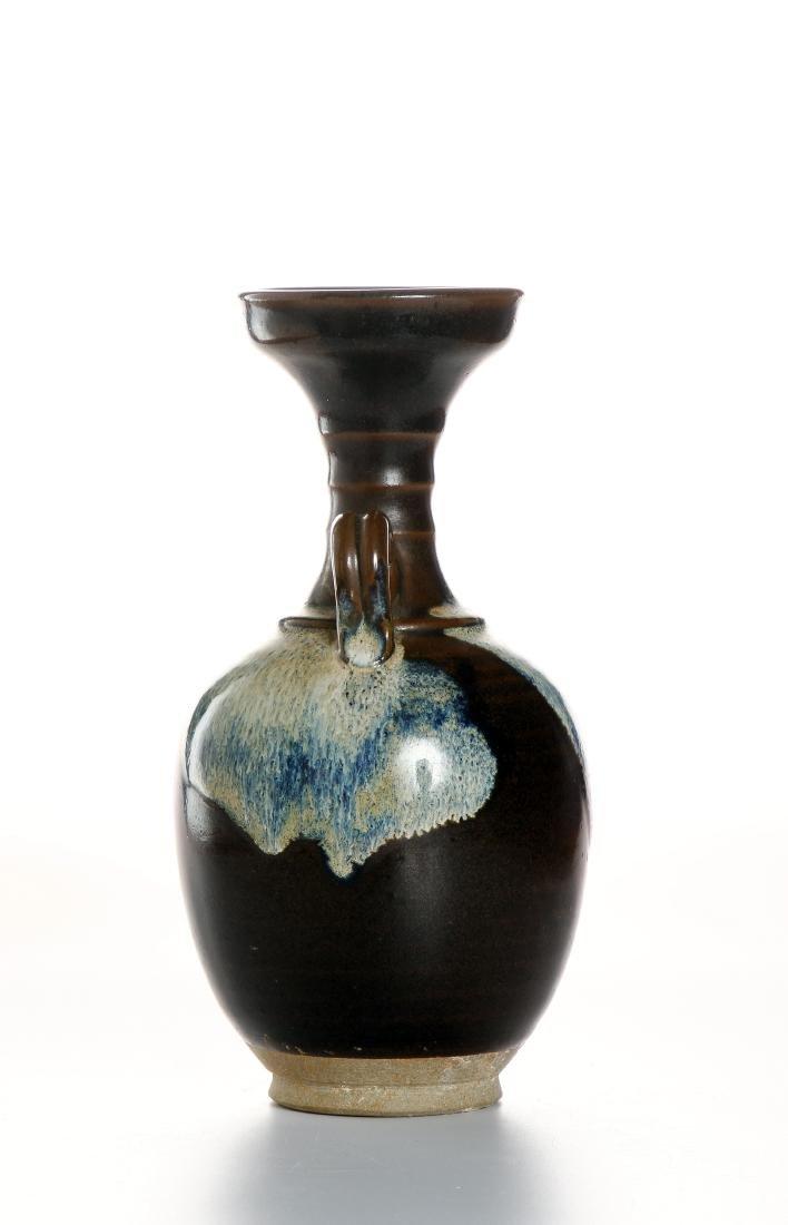 Chinese Flambe Glazed Bottle Vase - 2